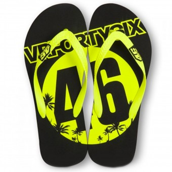 Cadeaux VR 46 Sandals Black Yellow VR46