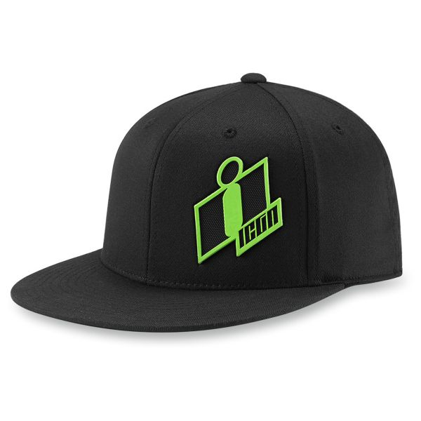 Casquettes Moto ICON Double Up Hat Black