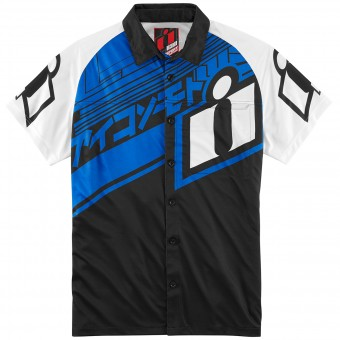 Chemises Moto ICON Hypersport Shirt Blue