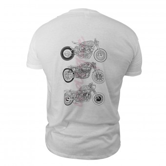 T-Shirts Moto iCasque Arrogance Motorcycles White