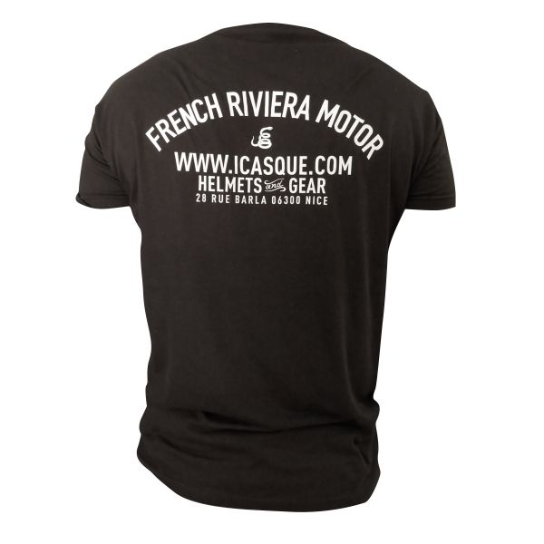T-Shirts Moto iCasque French Riviera Motor Black