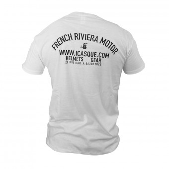 T-Shirts Moto iCasque French Riviera Motor White