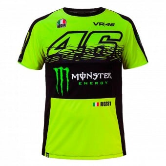 T-Shirts Moto VR 46 T-Shirt Replica Monster Fluo Yellow VR46