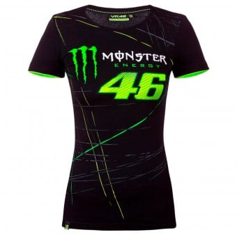 T-Shirts Moto VR 46 T-Shirt Woman Monza Monster Black VR46