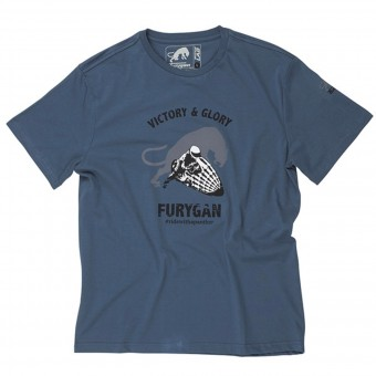 T-Shirts Moto Furygan TS MC Shotgun Blue