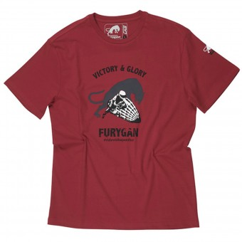 T-Shirts Moto Furygan TS MC Shotgun Red