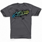 T-Shirts Moto Alpinestars Waterlogged Graphite