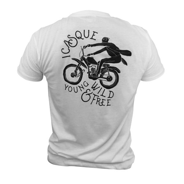 T-Shirts Moto iCasque YWF White