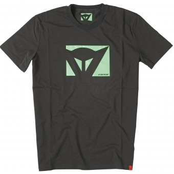 T-Shirts Moto Dainese Color New Black Green Fluo