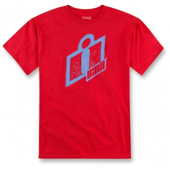 T-Shirts Moto ICON Double Up Tee Red