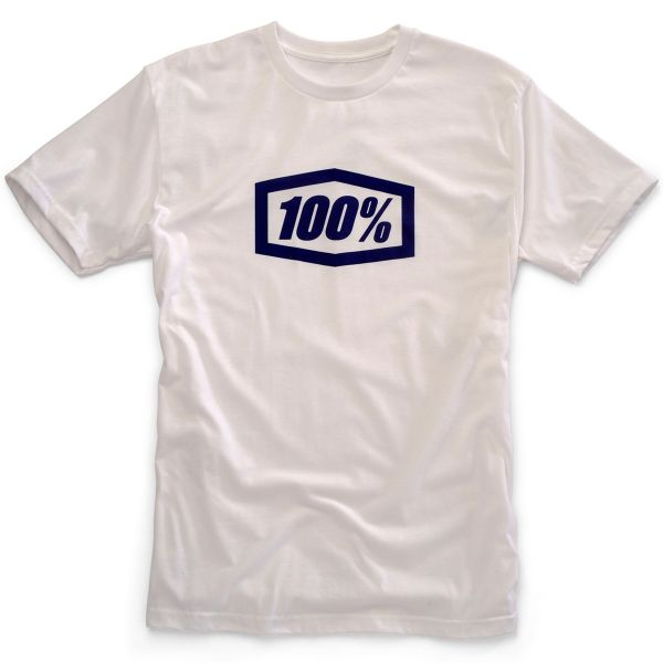 T-Shirts Moto 100% Essential White