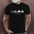T-Shirts Moto Gaaz Evolution du Motard (Noir)