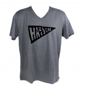 T-Shirts Moto HARISSON Flag Grey