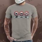 T-Shirts Moto Gaaz Limit 250 (Gris Clair)