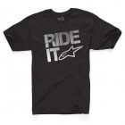 T-Shirts Moto Alpinestars Ride It Tech Classic Black