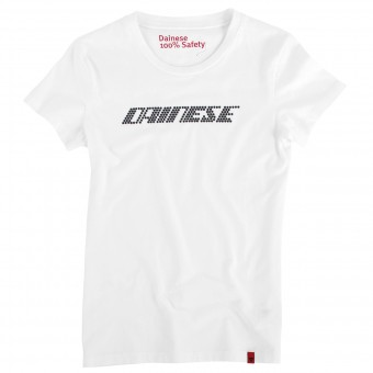 T-Shirts Moto Dainese Shine Logo Lady White