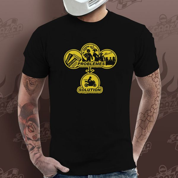 T-Shirts Moto Gaaz Solution ! (Army)