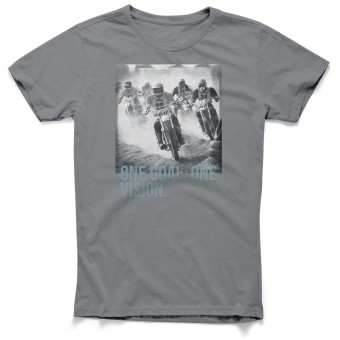 T-Shirts Moto Alpinestars Stampede Tee Charcoal