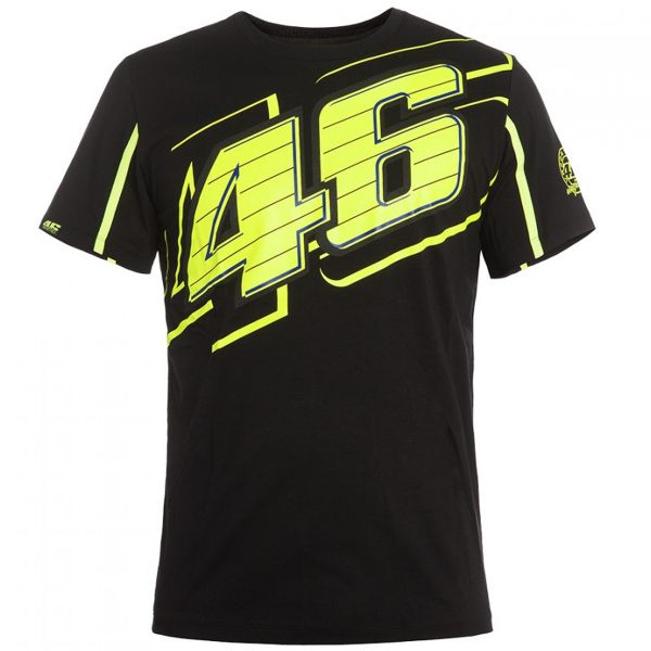 T-Shirts Moto VR 46 T-Shirt Black Yellow VR46
