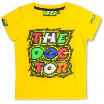 T-Shirts Moto VR 46 T-Shirt Kid The Doctor Yellow VR46