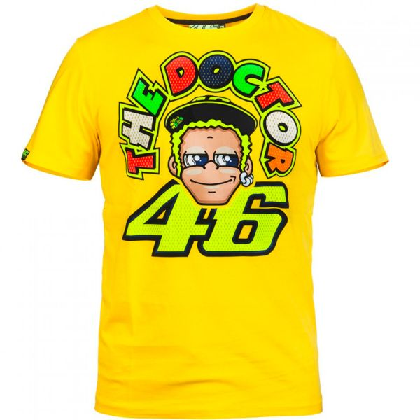 T-Shirts Moto VR 46 T-Shirt Yellow Face VR46