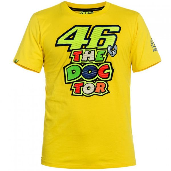 T-Shirts Moto VR 46 T-Shirt Yellow The Doctor VR46