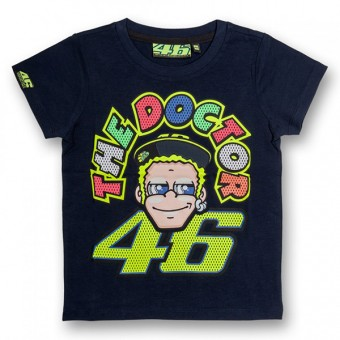 T-Shirts Moto VR 46 T-Shirt Kid The Doctor Blue VR46