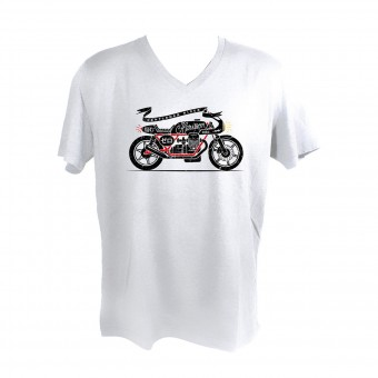 T-Shirts Moto HARISSON Zero White