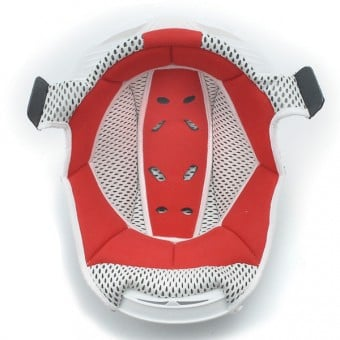 Interieur casque Airoh Coiffe Dome Rouge