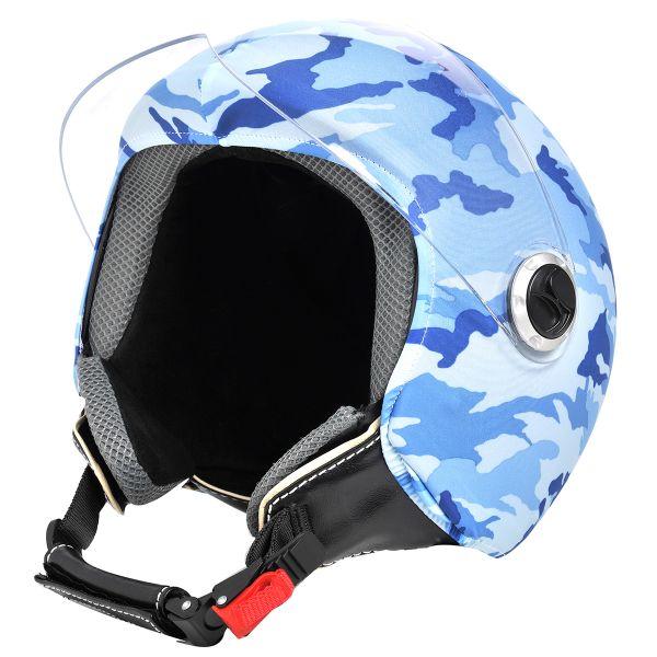 Personnalisation casque Helmetdress Blue Camouflage