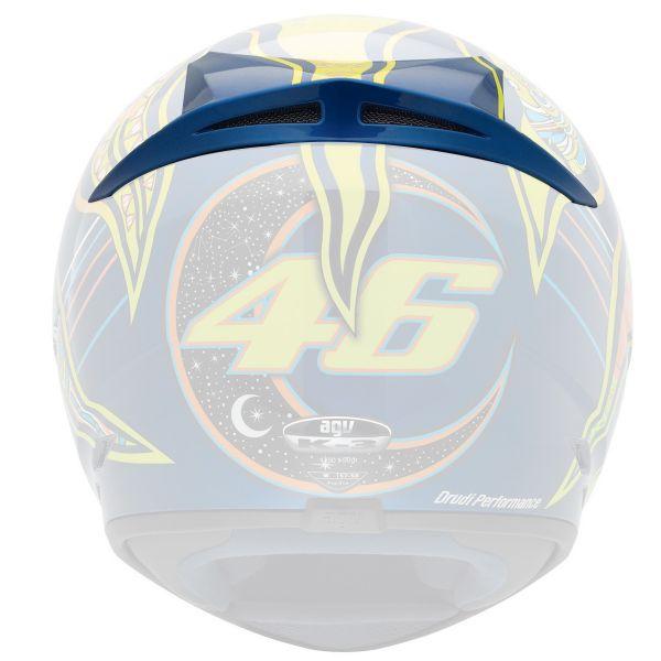 Pièces détachées casque AGV Aeration Superieure Arriere K3 Top 5 Continents