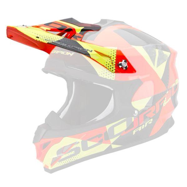 Pièces détachées casque Scorpion Casquette VX-15 Evo Air Akra Black Orange Yellow
