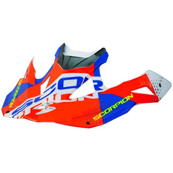 Pièces détachées casque Scorpion Casquette VX-15 Evo Air Akra White Red Blue