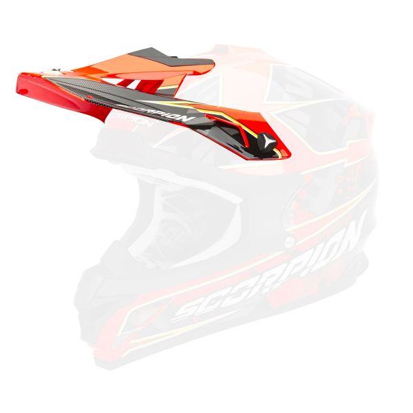 Pièces détachées casque Scorpion Casquette VX-15 Evo Air Magma Rouge Fluo
