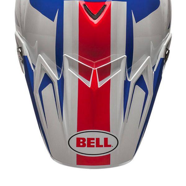 Pièces détachées casque Bell Casquette Moto 9 Flex Carbon Vice Blue Red