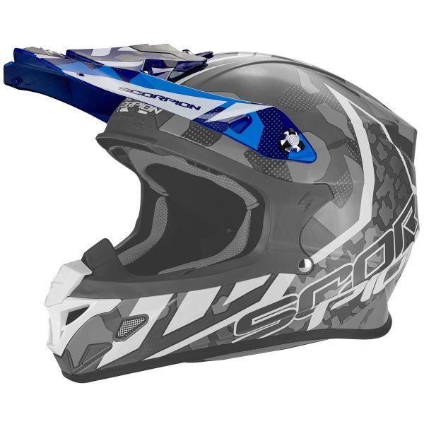 Pièces détachées casque Scorpion Casquette VX-21 Furio Blue White