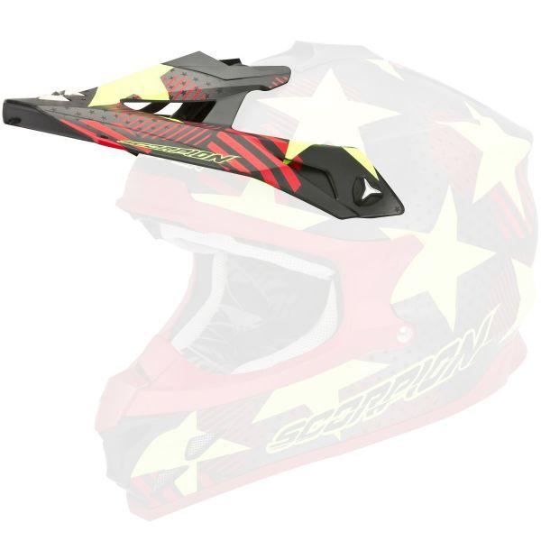 Pièces détachées casque Scorpion Casquette VX-15 Evo Air Stadium Rouge