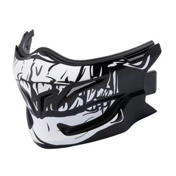 Pièces détachées casque Scorpion Masque Exo Combat Skull Noir Argent