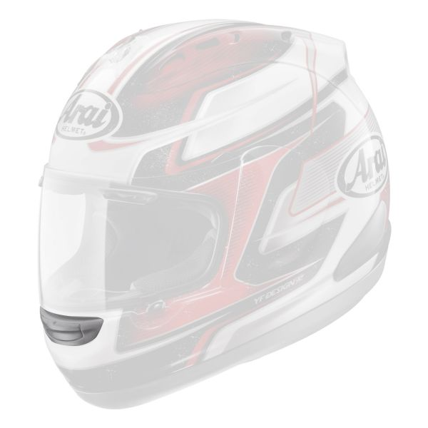 Pièces détachées casque Arai Ventilation Mentonniere RX7 GP Dani 26 Red