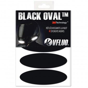 Réfléchissants casques VFLUO Bandes Reflechissantes Noir Oval