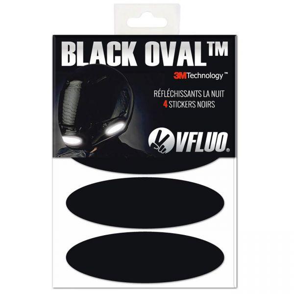bandes refl chissantes pour casques moto vfluo bandes reflechissantes noir oval en stock. Black Bedroom Furniture Sets. Home Design Ideas