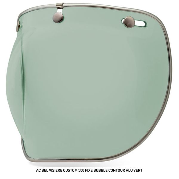 Bell Visiere Custom 500 Fixe Bubble Contour Alu