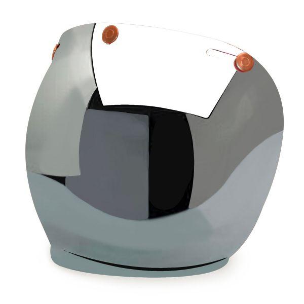 Visiere HEDON Ecran Bubble Mirror Snaps Cuivre Rouge