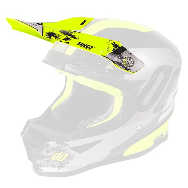 Visiere SHOT Visiere Furious Shadow Neon Yellow