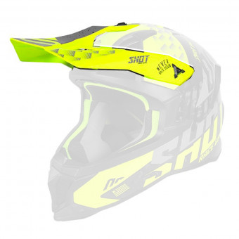 Visiere SHOT Visiere Lite Rush Neon Yellow Grey Matt