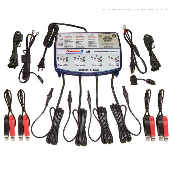 batterie moto tecmate optimate 3 pour 4 batteries au. Black Bedroom Furniture Sets. Home Design Ideas