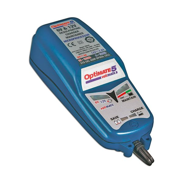 Batterie Moto Tecmate Optimate 5 Voltmatic - 6v et 12v