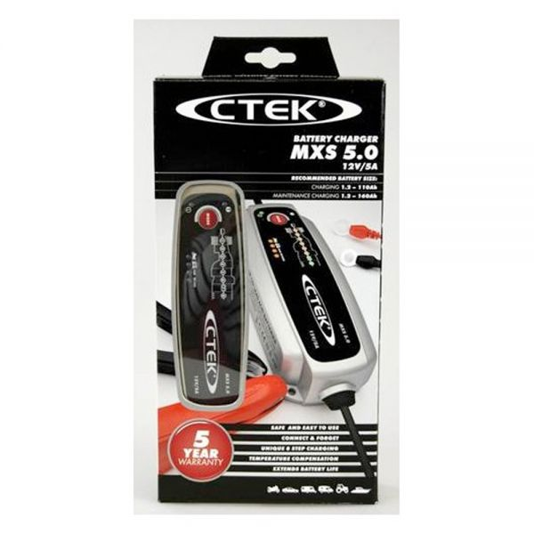 Batterie Moto Ctek MXS 5.0 12 Volts - 5 A