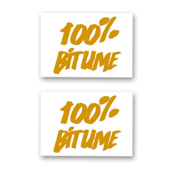Kit Autocollants Moto 100% Bitume Lot 2 Stickers 100% Bitume 14 x 11 Gold