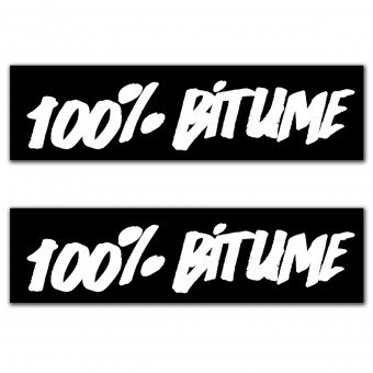 Kit Autocollants Moto 100% Bitume Lot 2 Stickers 100% Bitume 14 x 3 White